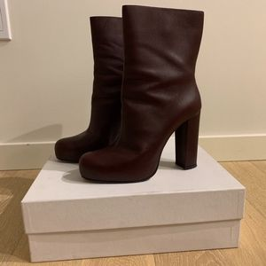 Theory Burgundy Obsidian Boots/Booties